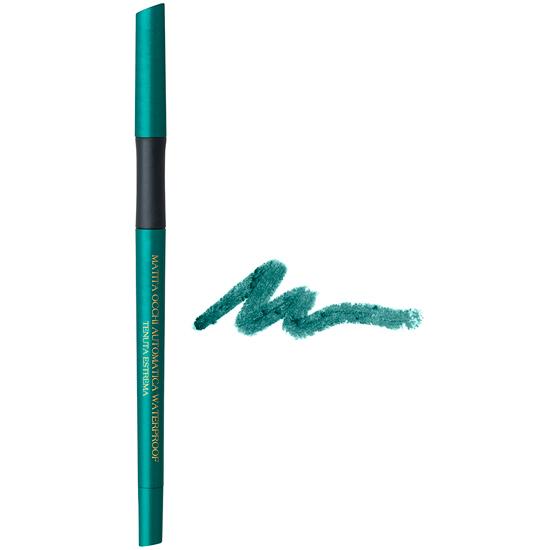 Creion de ochi waterproof, retractabil, cu vitamina C si E, verde turcoaz