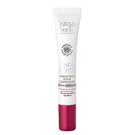 Crema concentrata pentru zona din jurul ochilor si a buzelor, cu efect de netezire, cu extract de seva de vita de vie - Linfa di Vite, 10 ML