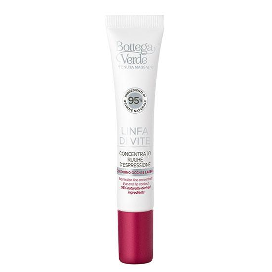 Crema concentrata pentru zona din jurul ochilor si a buzelor, cu efect de netezire, cu extract de seva din vita de vie - Linfa di Vite, 10 ML