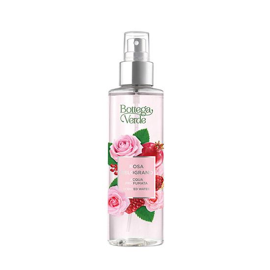Apa parfumata cu note de rodie si trandafir, 150 ML