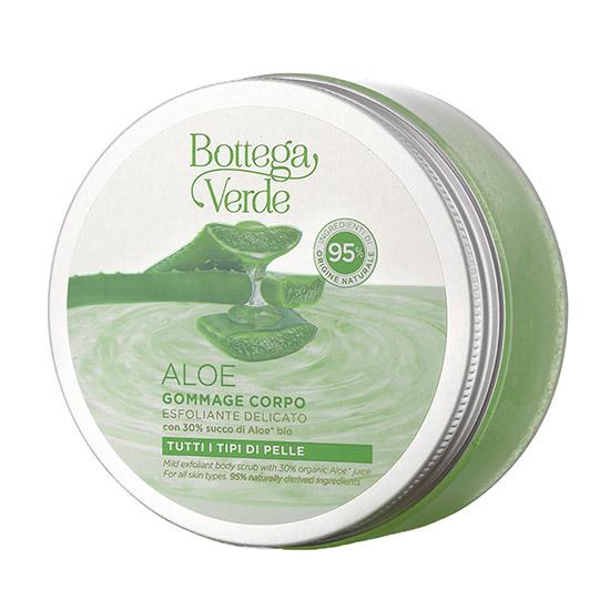 Exfoliant pentru corp, bland, cu de aloe vera bio, 95% ingrediente naturale - Aloe, 200 ML