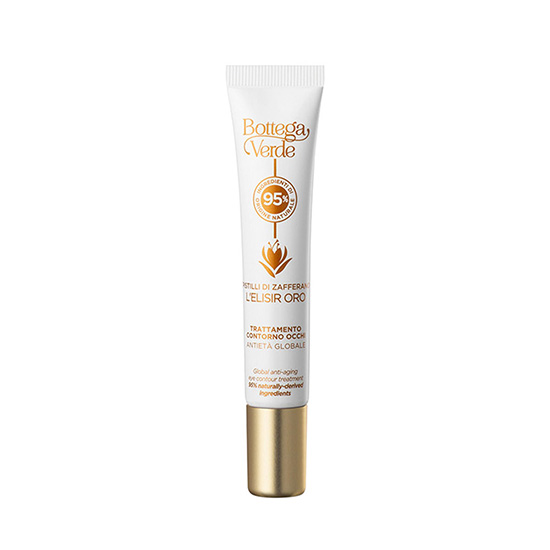 Crema contur ochi impotriva cearcanelor, cu 95% ingrediente naturale - Pistilli di Zafferano, 10 ML
