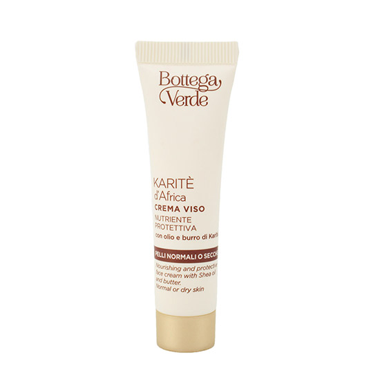 Travel size crema de fata nutritiva cu extract de unt de shea - Karite, 10 ML