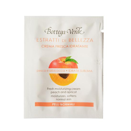 Mopstra crema hidratanta, pentru toate tipurile de ten, cu piersici si caise - Estratti di Bellezza, 1.5 ML