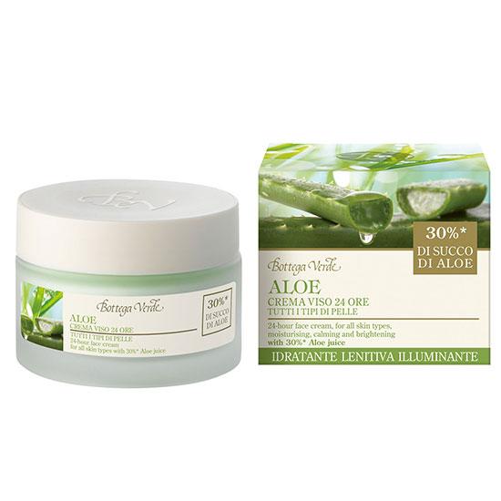 Crema de fata hidratanta si nutritiva, 24 ore, cu extract de Aloe Vera - Aloe, 50 ML