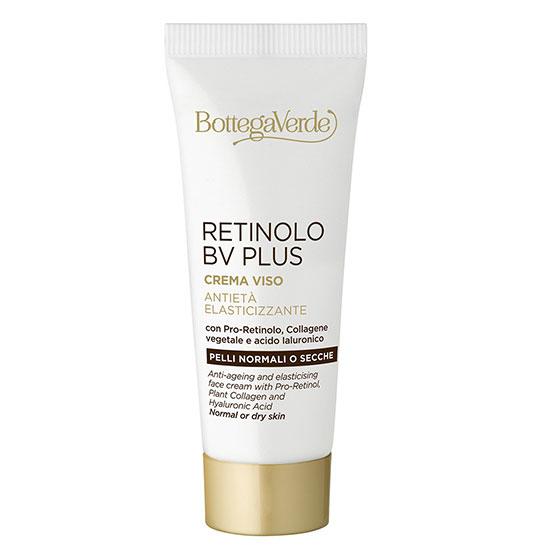 Travel size - Crema anti-imbatranire, cu pro-retinol, colagen vegetal, acid hialuronic, extract de ginseng si vitaminele E si F - Retinolo Bv Plus, 20 ML