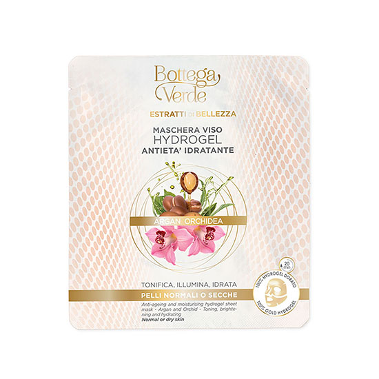 Masca hydrogel hidratanta, anti-imbatranire cu extract de orhidee si ulei de argan - Estratti di Bellezza, 1 B