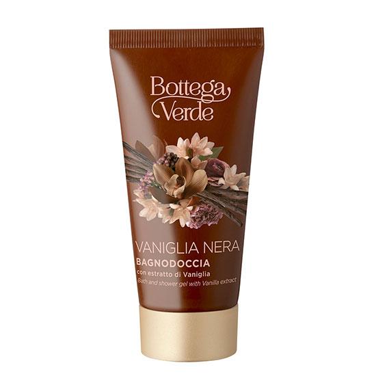 Travel size gel de dus cu extract de vanilie neagra - Vaniglia Nera, 50 ML