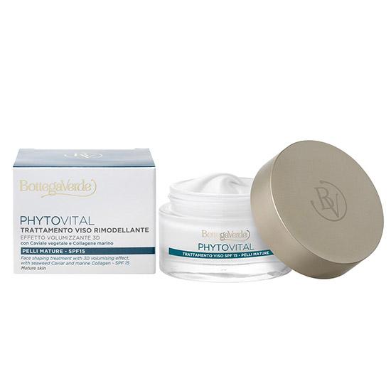 Tratament pentru fata, de zi, pentru ten matur, cu colagen marin si extracte botanice - Phytovital, 50 ML