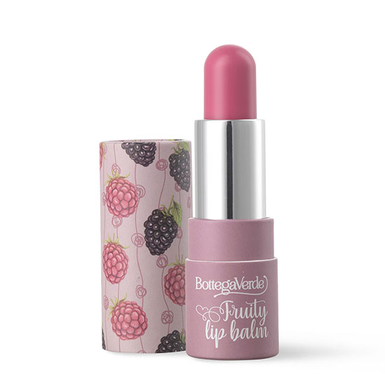 Balsam de buze, intens hidratant, cu ulei din samburi de caise, nuante de roz