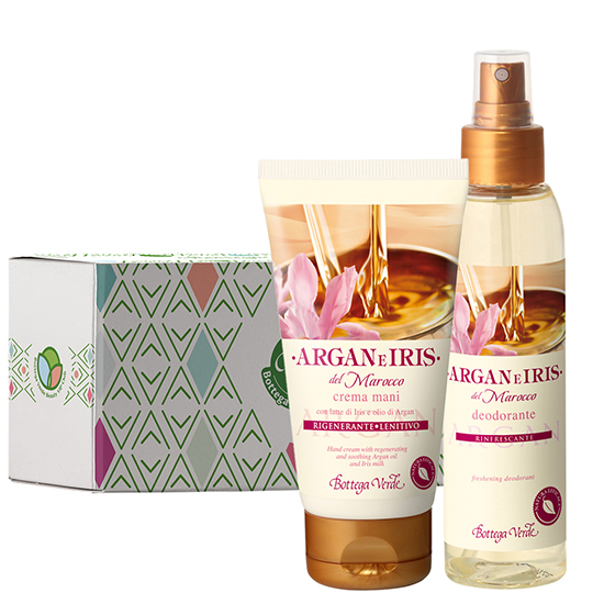 Set cadou - Argan si iris de Maroc - Crema de maini si parfum deodorant cu argan si iris, 125 ML + 75 ML