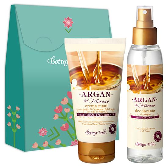 Set crema de maini si parfum deodorant cu argan - Argan del Marocco, 75 ML + 125 ML