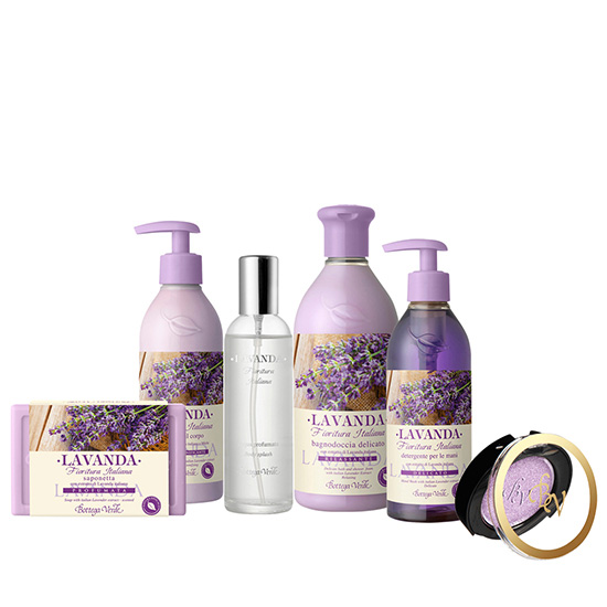 Set Lavanda Italiana mix liliac - Lavanda, 400 ML + 250 ML + 250 ML + 150 G + 100 ML