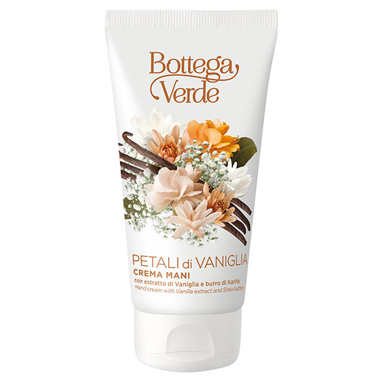 Crema pentru maini, hidratanta, cu extract de vanilie si unt de shea - Petali di Vaniglia, 75 ML
