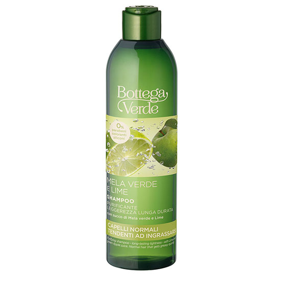 Sampon 2 in 1, purificant si hidratant, cu extract de lime si mar verde - Mela Verde, 250 ML