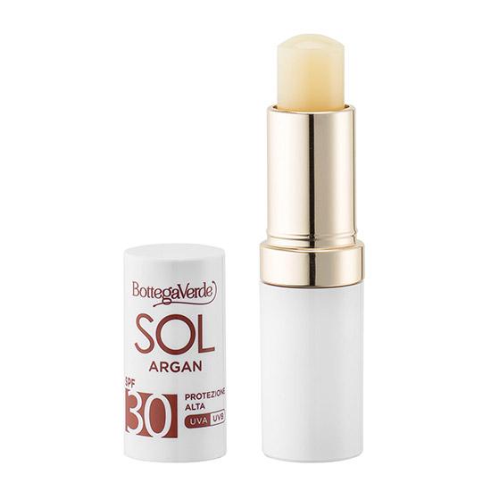 Balsam de buze cu ulei de argan si Vitamina E, rezistent la apa, SPF 30, incolor - SOL Argan, 5.5 ML