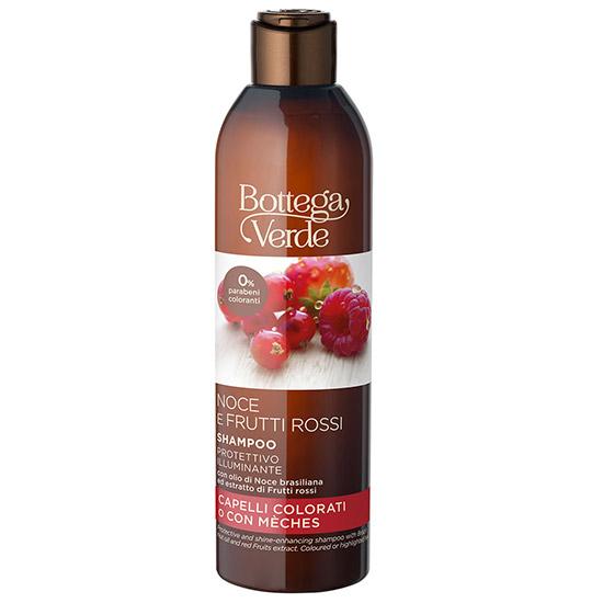 Sampon cu ulei de nuci braziliene si mix de fructe rosii pentru par vopsit si cu suvite - Olio di Nocce e Frutti Rossi, 250 ML
