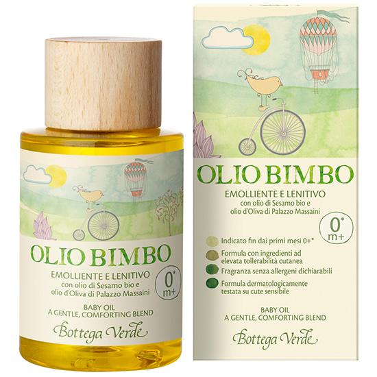 Ulei de corp, pentru copii, cu ulei de susan si ulei de masline de la Palazzo Massaini - Bimbi, 100 ML
