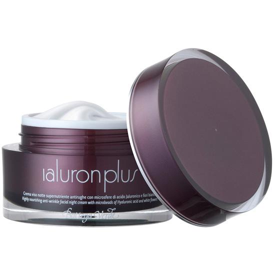 Crema de fata antirid pentru noapte, sper-nutritiva, antirid, cu microsfere de acid hialuronic si flori albe - Ialuron Plus, 50 ML