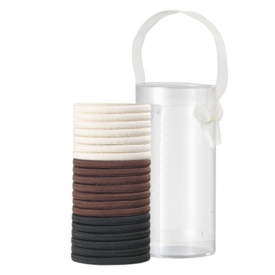 Set elastice de par, negru, maro, maro deschis, 20 BUC