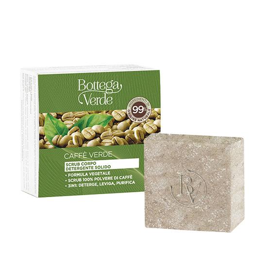 Scrub solid pentru curatarea corpului, cu pudra de cafea si amestec de uleiuri esentiale - Caffè Verde, 75 GR