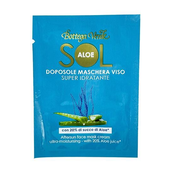Mostra masca de fata, dupa plaja, cu 20% extract de Aloe Vera - Sol Aloe, 1.5 ML