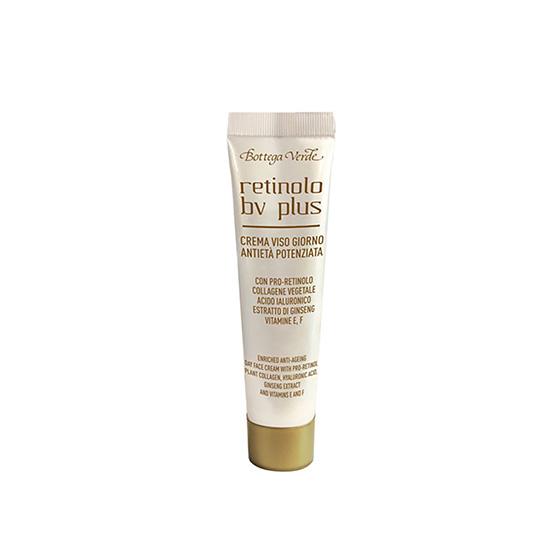 Crema anti-imbatranire mini, conceputa special pentru toate tipurile de ten, cu Pro-Retinol, colagen vegetal, extract de ginseng si vitaminele E si F - Retinolo Bv Plus, 10 ML
