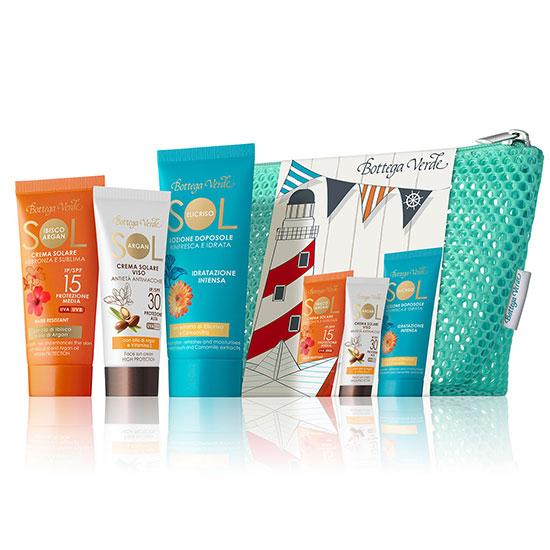 Set 3 mini produse pentru plaja - Sol Ibisco e Argan