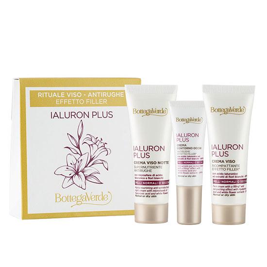 Set travel size crema de fata de zi, crema de noapte, crema contur ochi cu acid hialuronic - Ialuron Plus, 5 ML, 20 ML