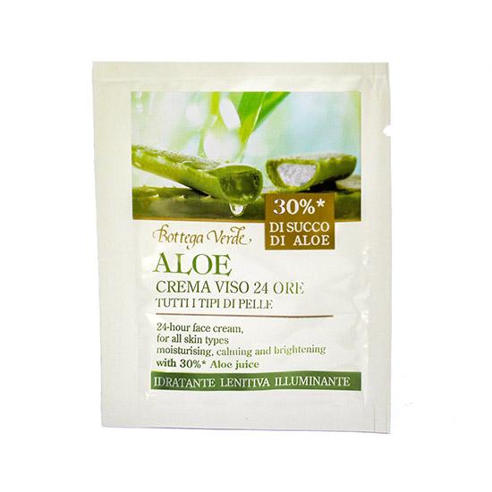 Mostra crema de fata nutritiva, 24H, pentru toate tipurile de ten, cu extract de aloe vera - Aloe, 1.5 ML