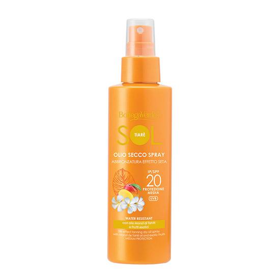Spray protectie solara, rezistent la apa, cu ulei de Monoi din Tahiti, SPF 20 - SOL Tiarè, 150 ML