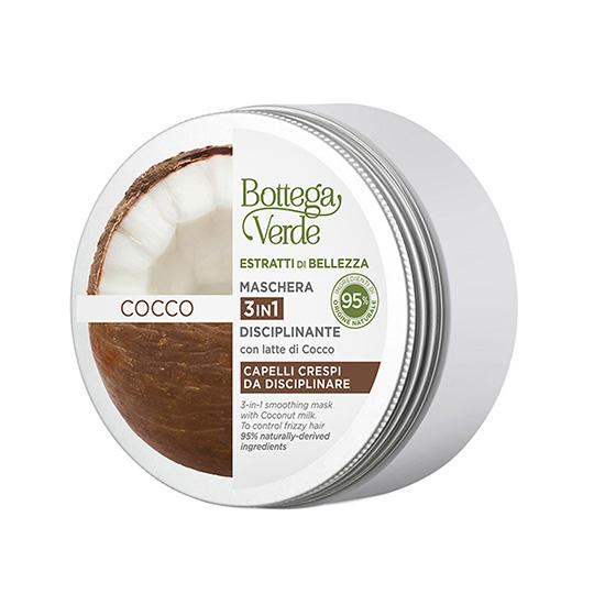Masca pentru par 3 in 1, cu lapte de nuca de cocos - Estratti di Bellezza, 200 ML