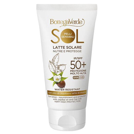 Protectie solara, pentru toate tipurile de piele, cu ulei de jojoba si lapte de ovaz, SPF 50 - Sol Pelli Sensibili, 75 ML