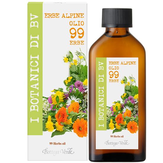 Ulei hidratant, pentru corp din 99 ierburi naturale - I Botanici Di Bv, 100 ML