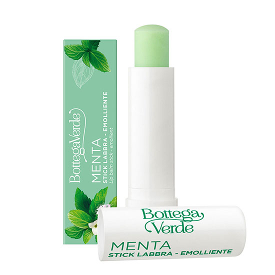 Balsam de buze hranitor, cu extract de menta, verde - Menta, 5 ML