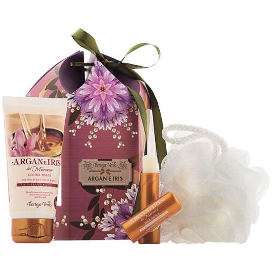 Set cadou - Argan si Iris de Maroc - Crema de maini si balsam de buze cu ulei de Argan si lapte de Iris