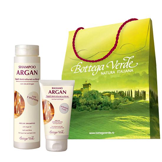 Set cadou - Argan de Maroc - Sampon si balsam de par cu ulei de argan