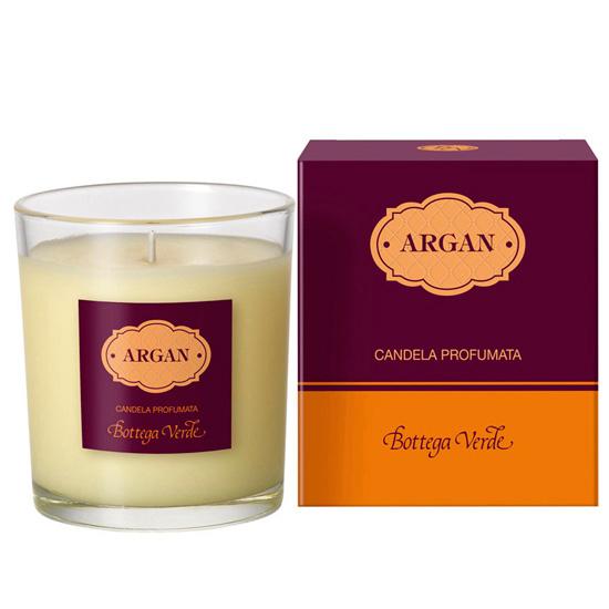 Lumanare decorativa parfumata cu ulei si aroma de argan, visiniu