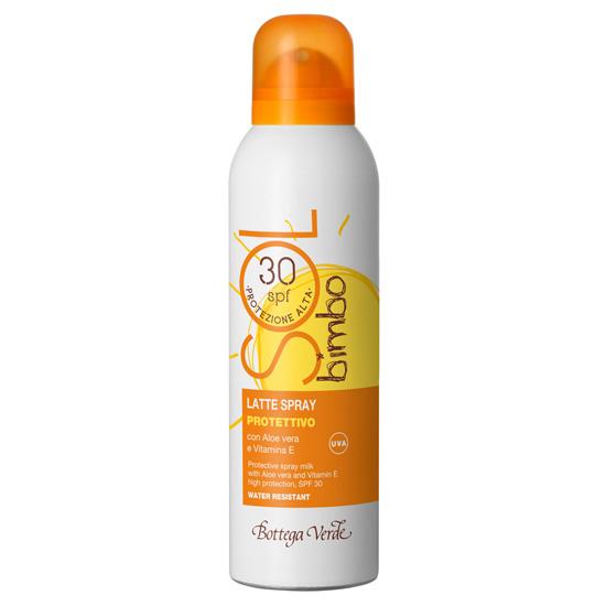 Lapte spray pentru copii, cu aloe vera si vitamina E - waterproof