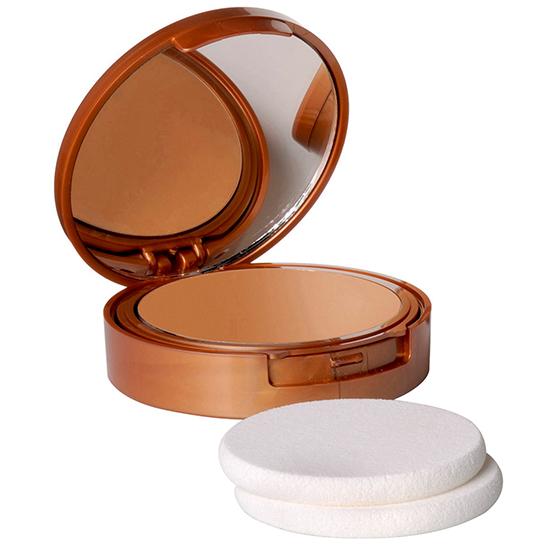 Protectie solara - Fond de ten compact cu vitamina E si ulei din orez brun, SFP 15, rezistent la apa  - natural