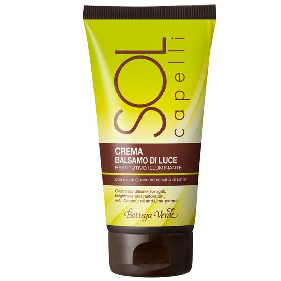 Balsam - crema  pentru luminozitate, cu ulei din nuca de cocos si extract de lime - Sol Capelli  (150 ML)