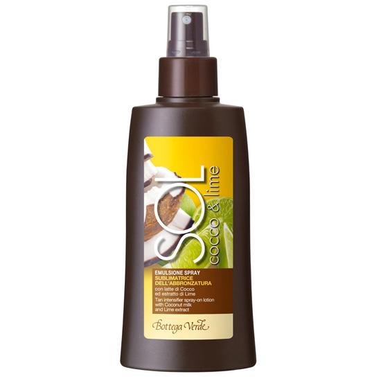 Lotiune spray pentru intensificarea bronzului cu lapte de cocos si extract de lime