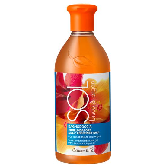 Protectie solara - Gel de dus cu ulei de hibiscus si argan