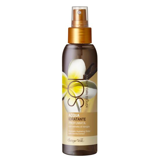 Protectie solara - Vanilie neagra si monoi - Apa parfumata hidrantanta cu extract de vanilie  (125 ML)