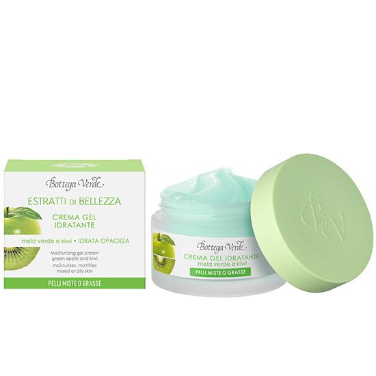 Extracte de frumusete - Crema gel hidratanta - mar verde si kiwi - hidratare opacă - ten mixt si gras