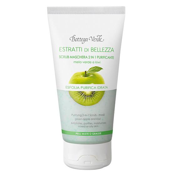 Extracte de frumusete - Scrub si Masca hidratanta 2 in 1 cu pulpa de mar si kiwi - piele normala